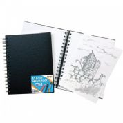 Tiger A5 Wiro Bound Artist Sketch book, 80 sheets perforated 110gsm Acid Free Pages